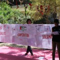 Ces fresques seront exposées au centre de l'UNRWA (Nations-Unies)