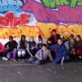 Français et Roumains fiers de leur fresque