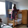 Clarmonde, Diénéba et Amira installées dans leur chambre