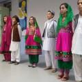 La délégation afghane en tenue traditionnelle