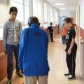 Du foot jusque dans les couloirs...